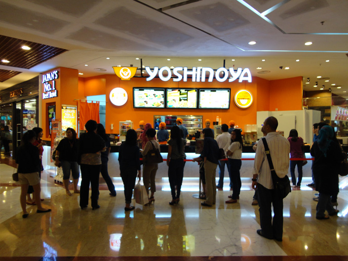 Yoshinoya pondok indah for Passion jewelry taman anggrek